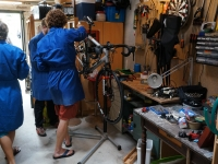 1 of 19 Bike Mechanics in Tim's Garage